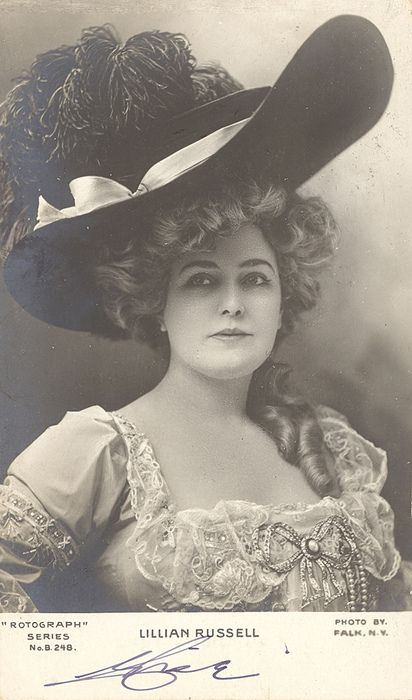 Lillian Russel 1903, american actor known for beauty and style