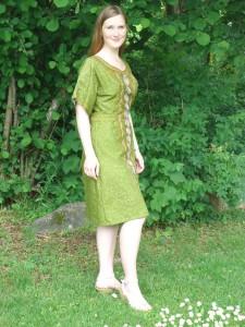 Klänningen från sidan